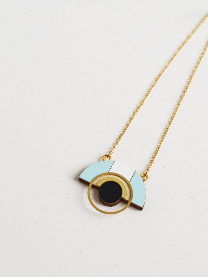 Geometric Ice Blue Necklace