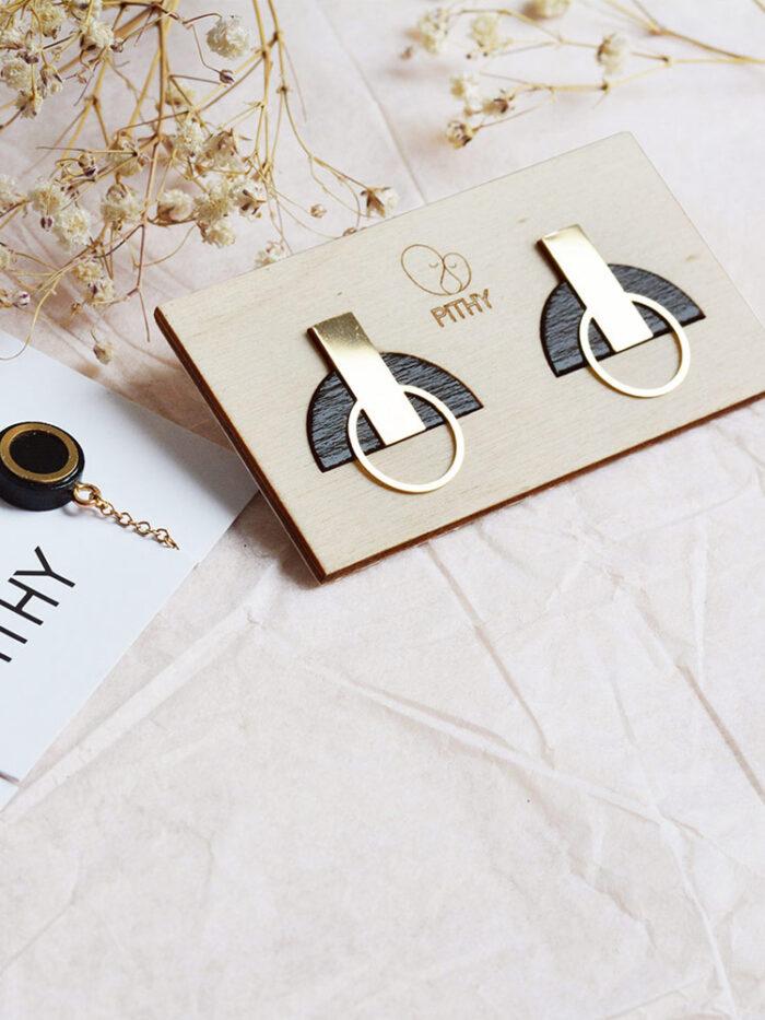 Black stud earrings