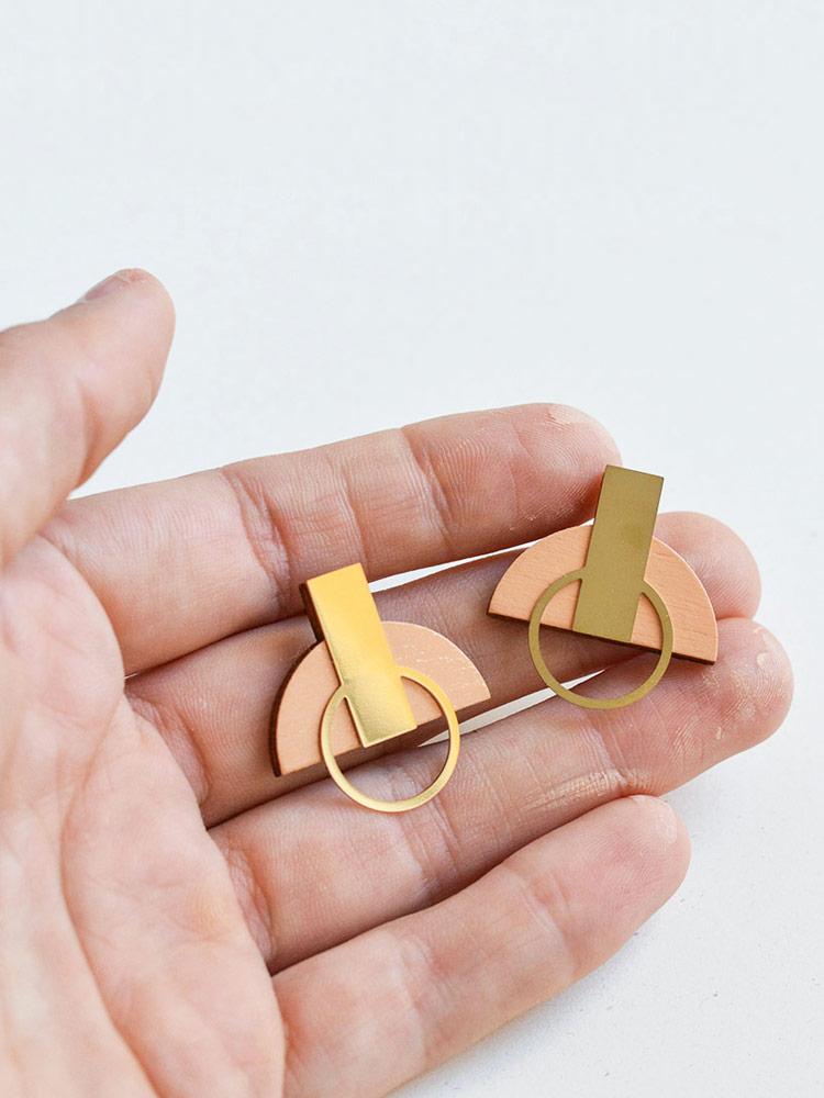 Blush pink stud earrings