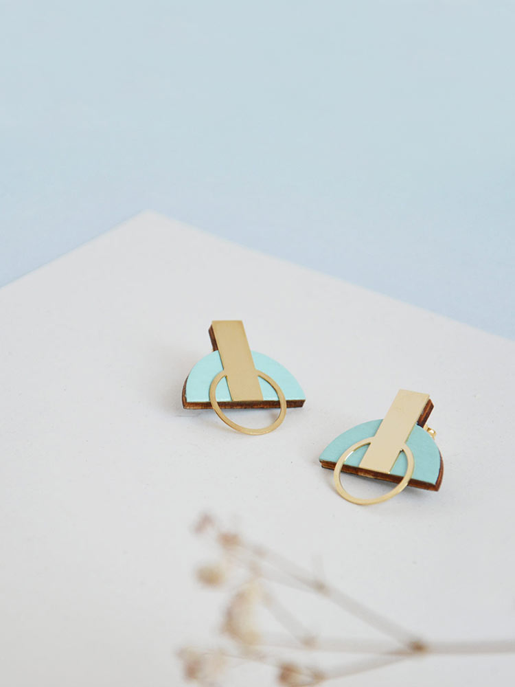 Ice Blue stud earrings