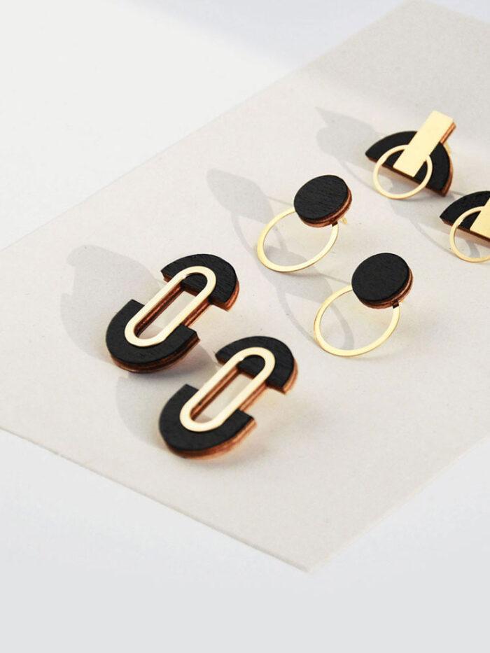 Statement black earrings