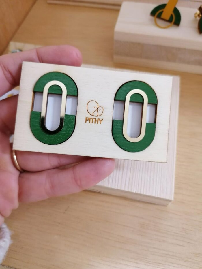 Statement green earrings