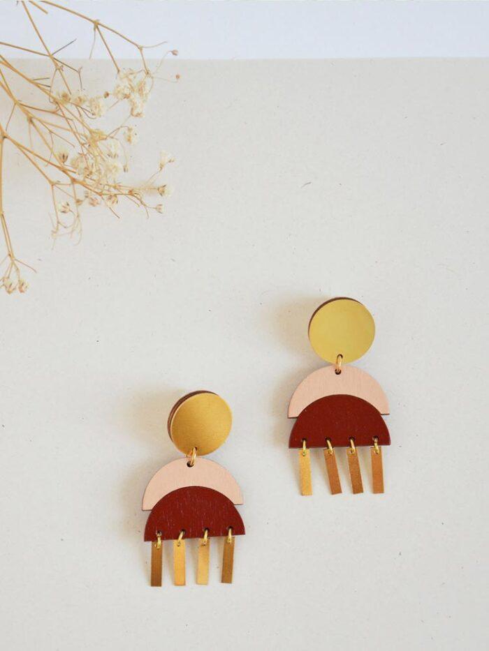 Statement drop earrings