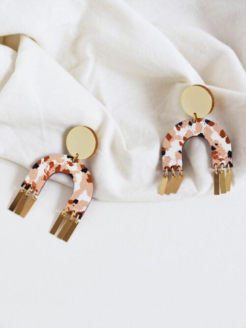Terrazzo Arch Earrings