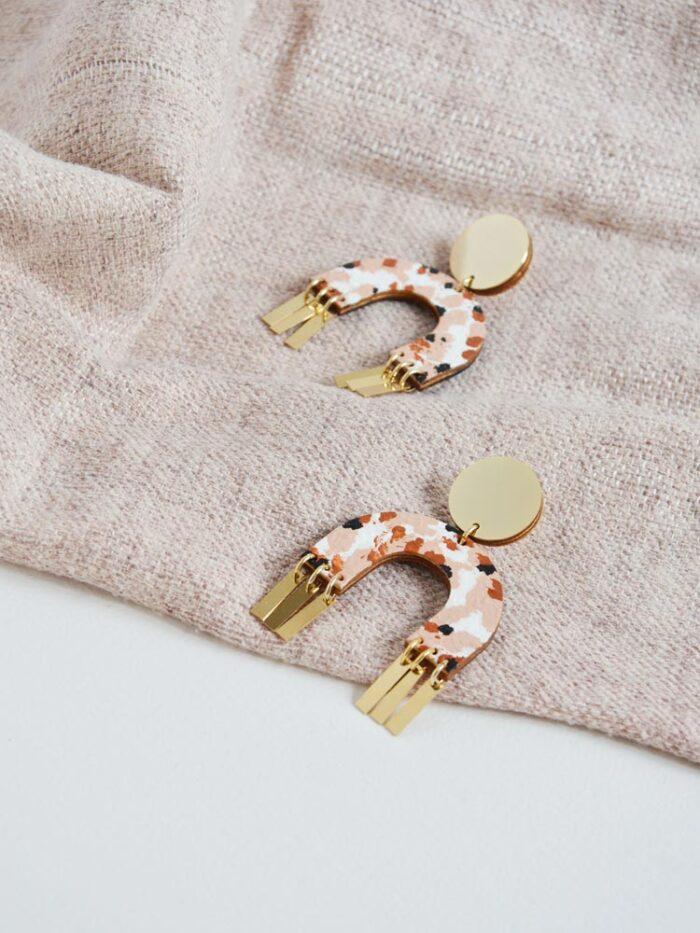 Terrazzo Arch Earrings