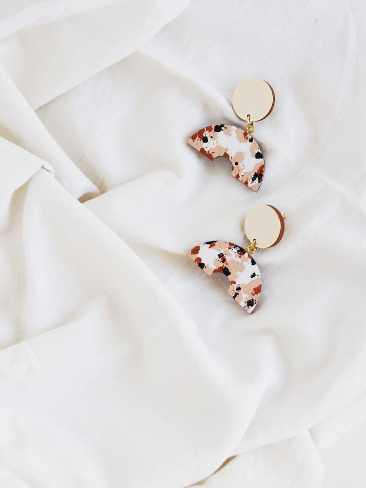 Semi Circle Drop Earrings