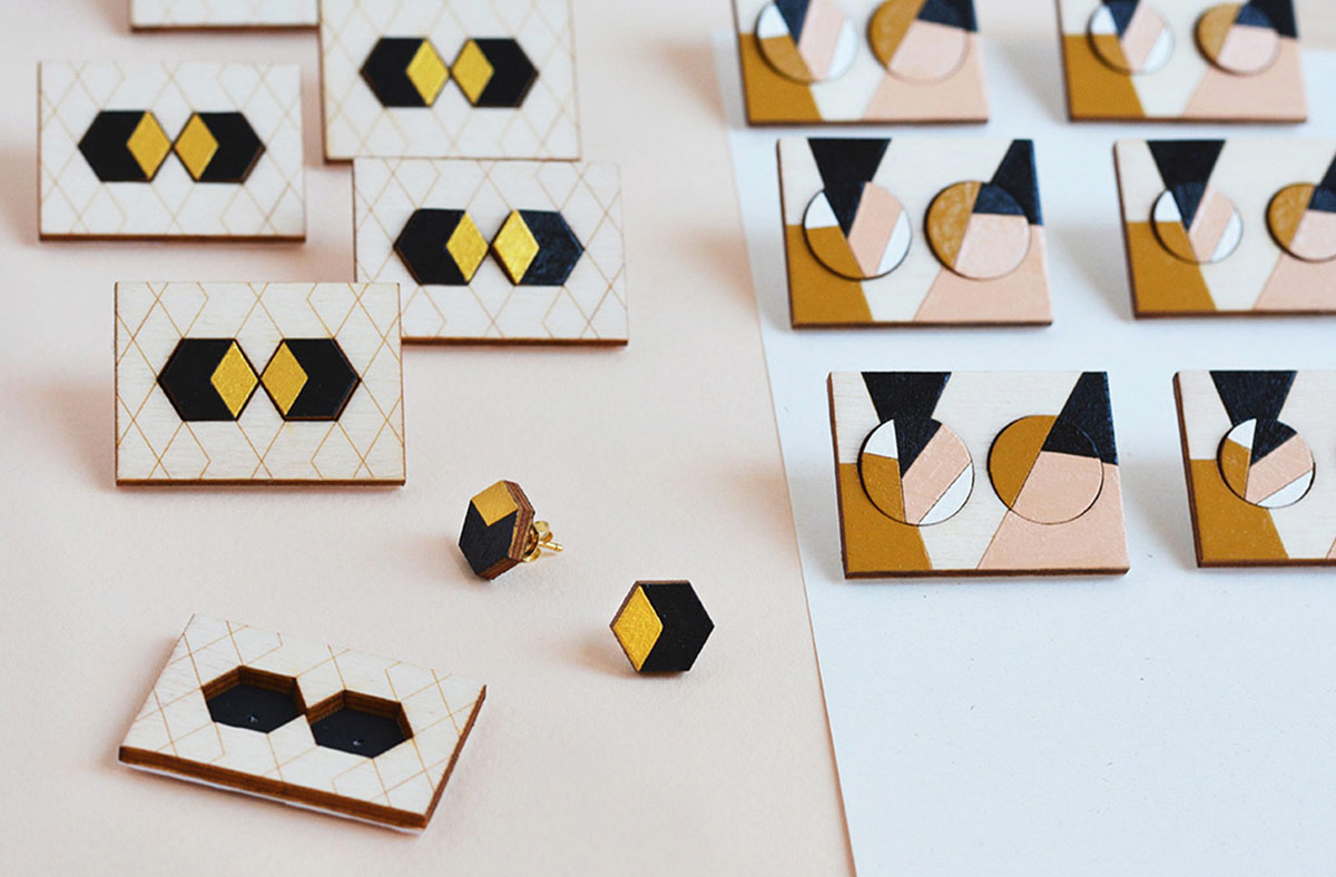 Geometric-Stud-Earrings