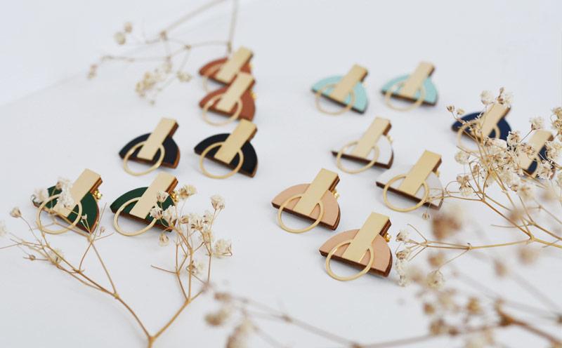N11 stud earrings
