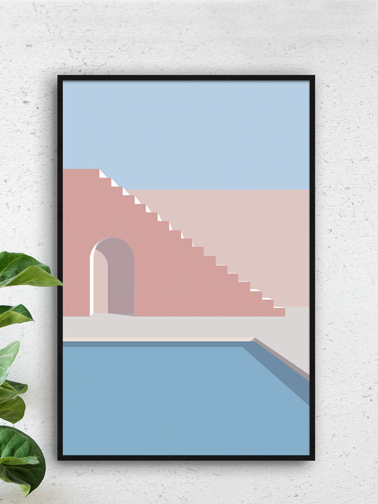 Mediterranean Vibes Art Print