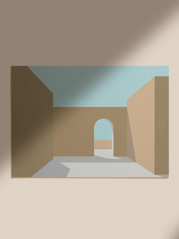 Mustard Beige Arch Illustration