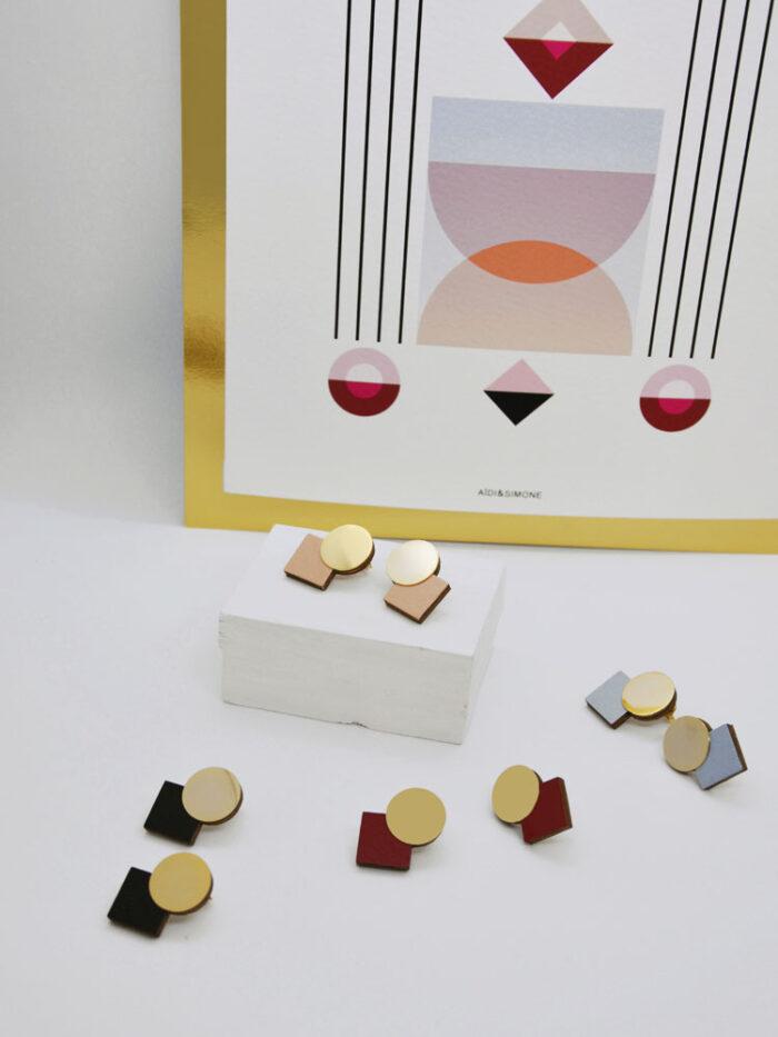 Print and earrings KALEIDOS