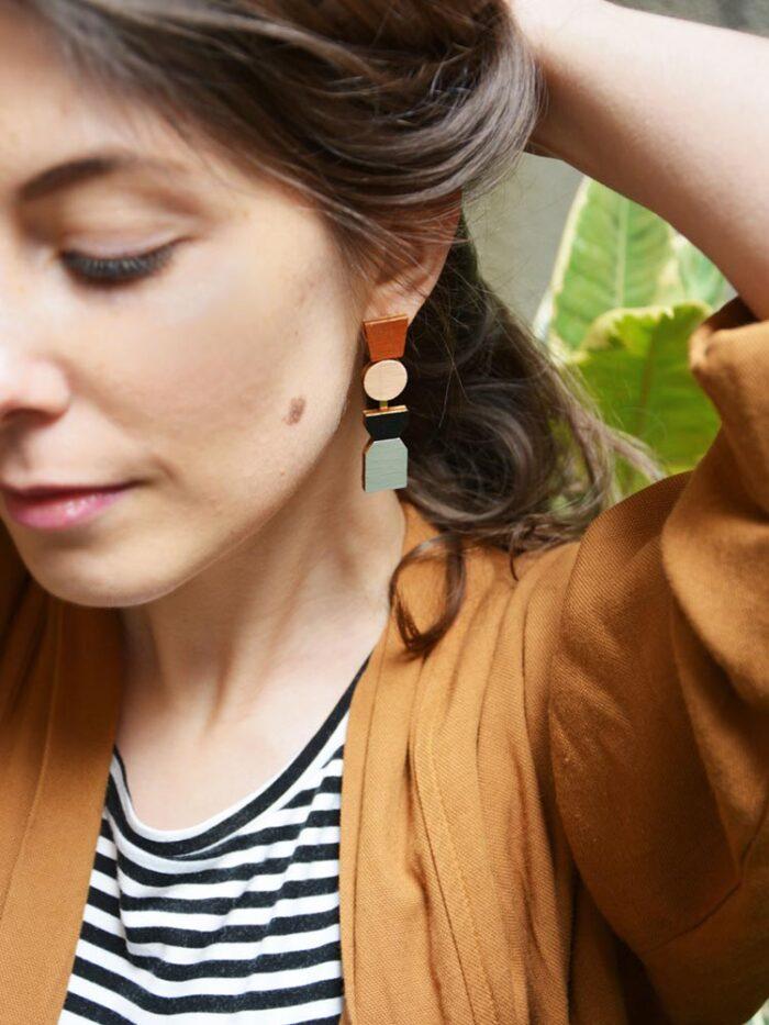 Cometa totem earrings
