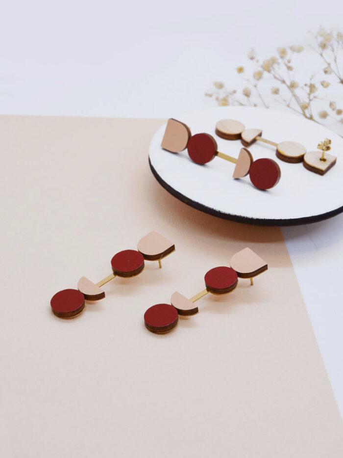Cometa long earrings